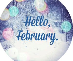 february, hello, and love image