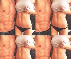 couple, fitness, and body image