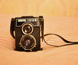 camera, old, and pink image
