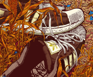 ad, adidas, and snickers image