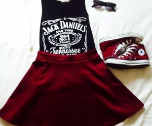 fashion, jack daniels, and skirt image