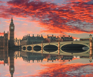 london, Big Ben, and bridge image