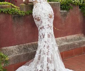 dress, wedding dress, and sexy image