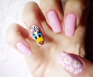 cartoon, pink, and daisy duck image