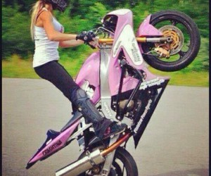 bike, fille, and girl image