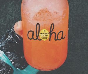 Aloha, drink, and food image