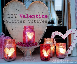 diy, candle, and glitter image