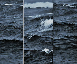 sea, waves, and blue image