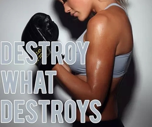 fitness, motivation, and destroy image