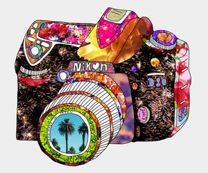 nikon, camera, and art image