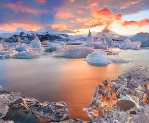 ice, nature, and iceland image