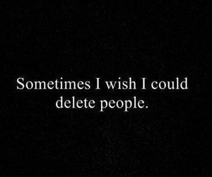 people, delete, and sad image