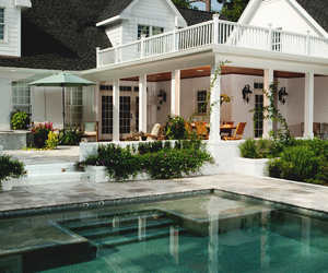 house, home, and pool image