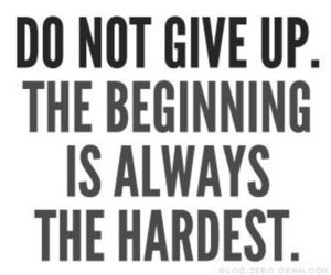 beginning, believe, and don't give up image