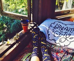 banana, bedroom, and socks image