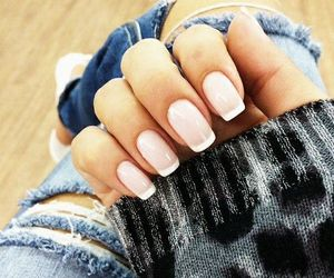 nails, fashion, and jeans image
