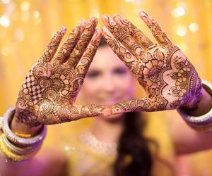 henna, mhendi, and henna art image
