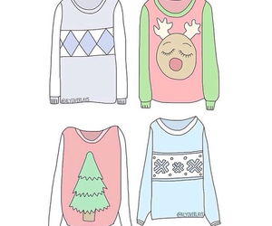 christmas, sweater, and transparent image