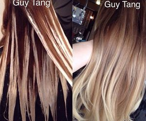 hair blonde brown diy image