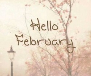 february, winter, and hello image