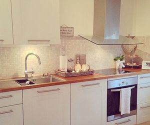 kitchen, luxury, and white image