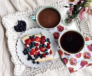 food, breakfast, and berries image