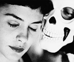 amelie and black and white image