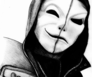 black, white, and hollywood undead image