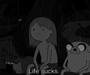 life, adventure time, and sucks image