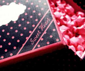 black, box, and pink image