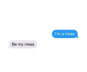 love, mess, and text image