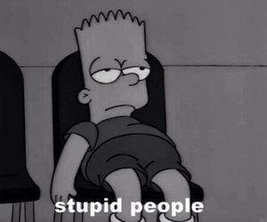 people, stupid, and simpsons image