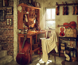 violin, art, and music image