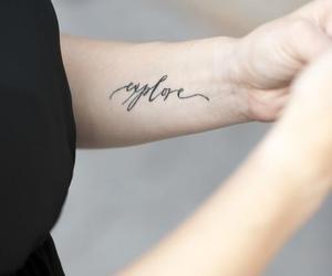 tattoo, explore, and arm image