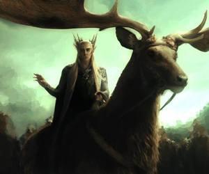 elfe, thranduil, and le hobbit image