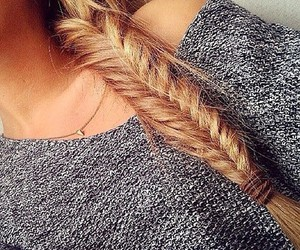 hair, blonde, and braid image
