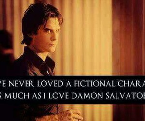 damon salvatore, love, and ian somerhalder image