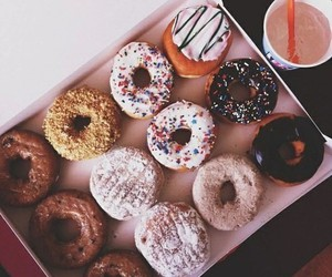 donuts, food, and girly image