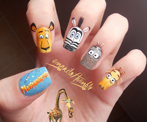 nails, madagascar, and nail art image