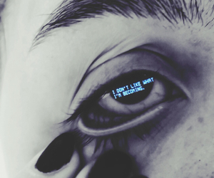 black, dark, and eye image