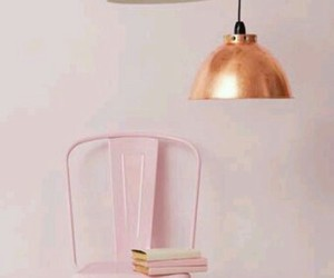 pink, copper, and decor image