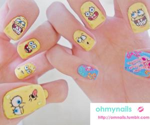 nails and spongebob image