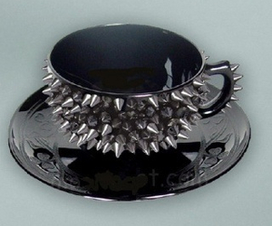 cup, black, and spikes image