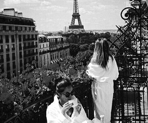 chic, eiffel tower, and fashion image