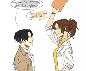 anime, couple, and levi image