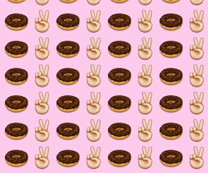 background, donuts, and peace image