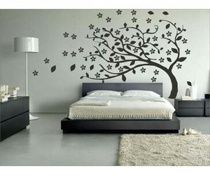 art, bed, and black and white image