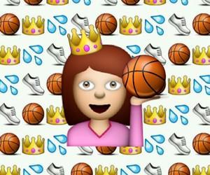 Basketball, emoji, and emoji background image