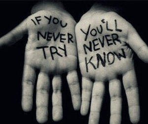 try, hands, and quotes image