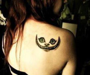 alice, cat, and tattoo image